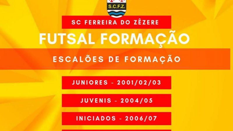 SCFZ Futsal – Escalões de Formação – CAPTAÇÃO