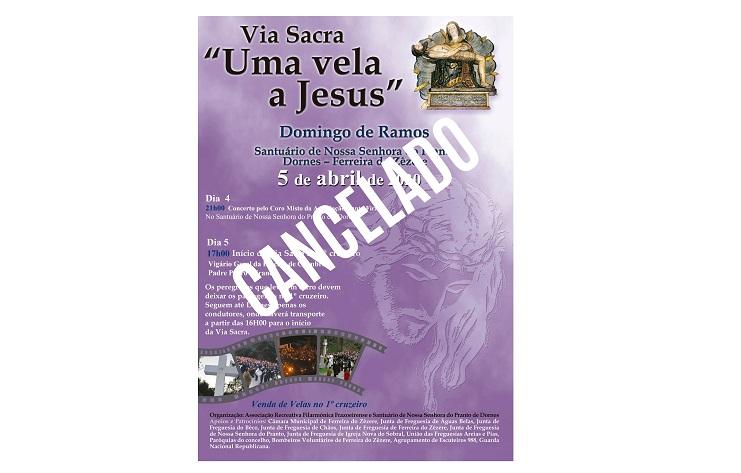 Cancelamento da Via Sacra de Dornes