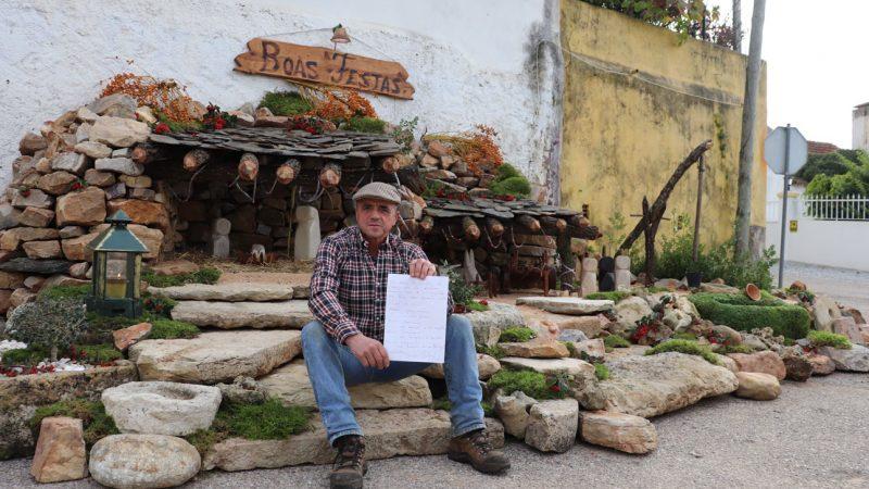 Presépio Artesanal na aldeia do Mourolinho feito por Jorge Roberto movimentou 14 toneladas de pedra